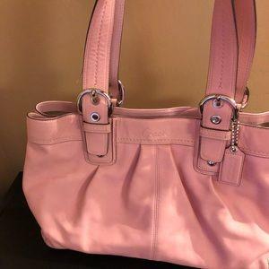 EUC Beautiful Pink Leather Coach Purse